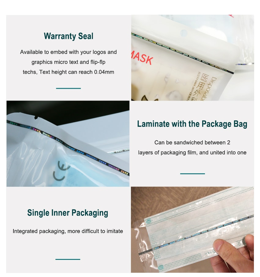 security thread of mask packaging seal