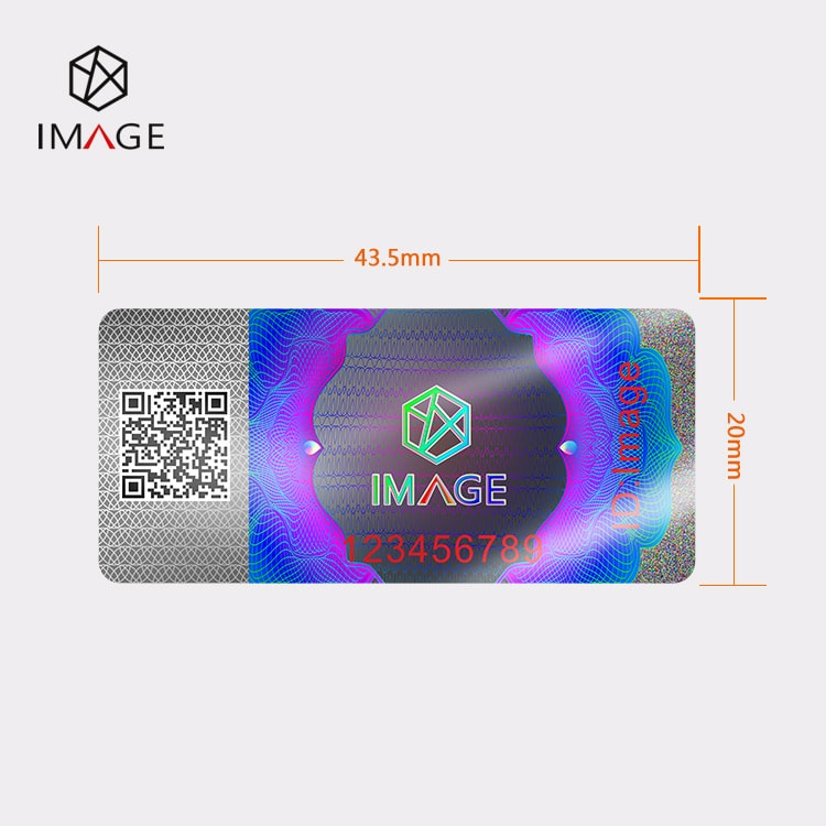 20X43.5mm Hologram Agricultural Tax Stamp, QR Tracking