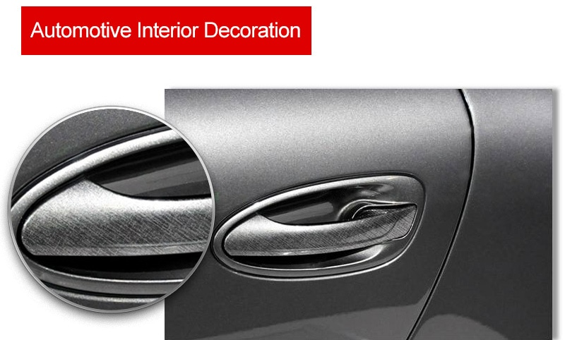 Decorative texture application for automobiles and building materials