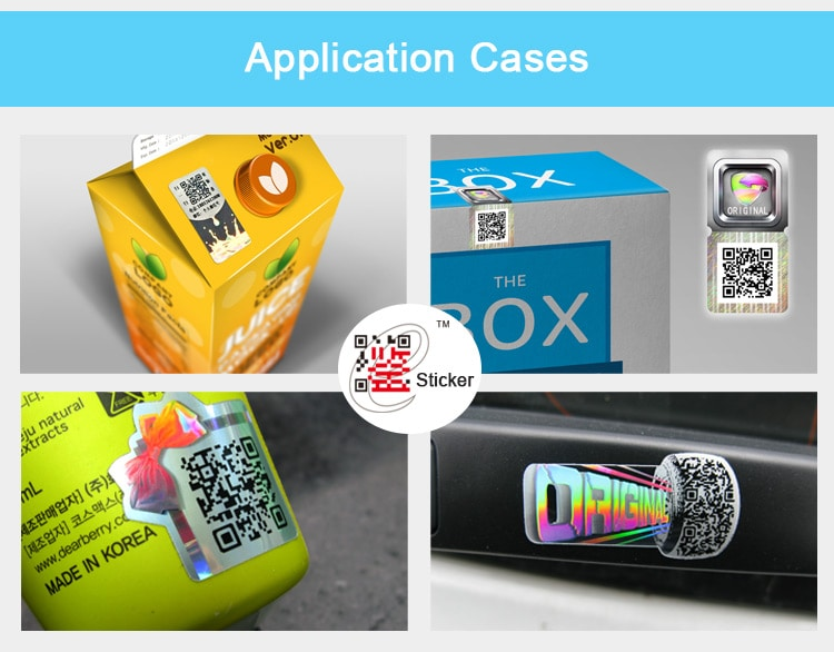 E Identification Hologram Sticker Application Dispaly