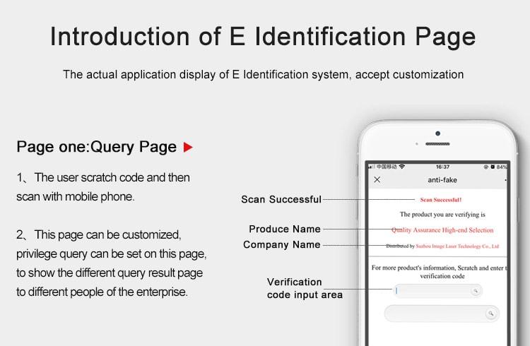 E Identification Query Page