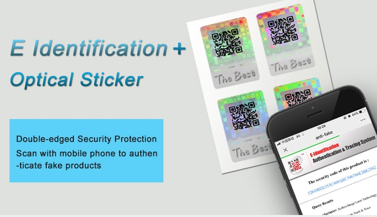 E Identification System and Optical Hologram Sticker