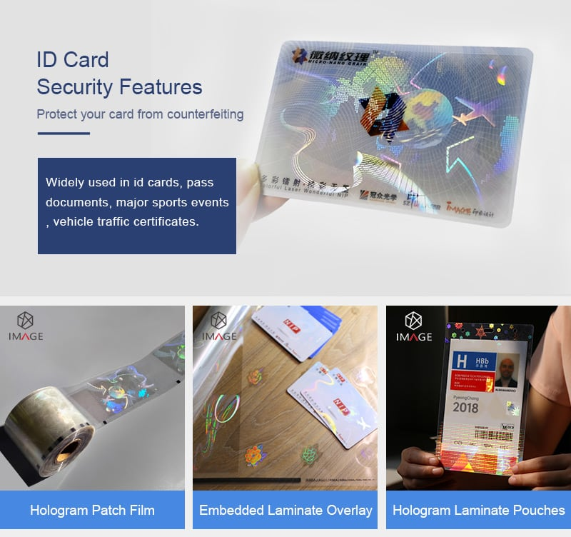 NIP film material-id card security solution