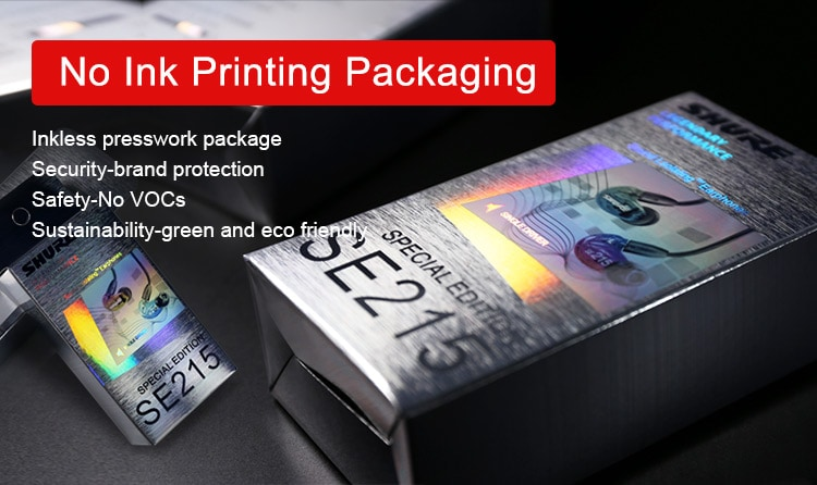 No Ink Printing Optical Packaging design, used for Electronics
