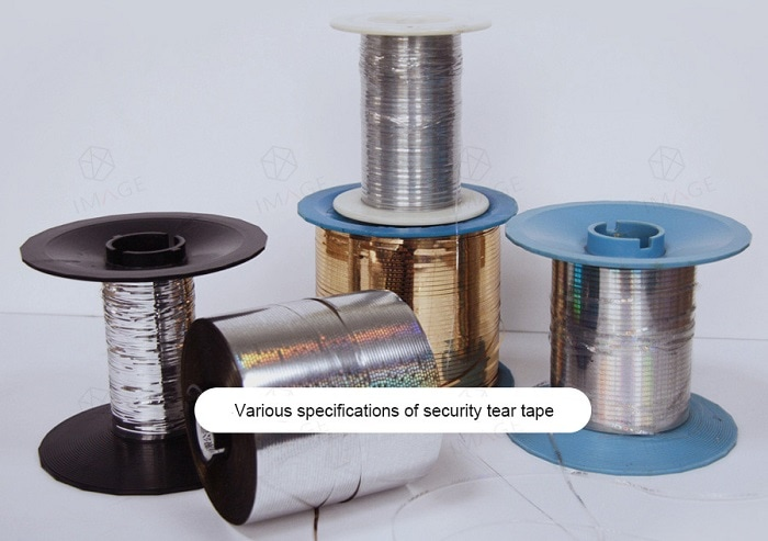 different specifications of holographic tear tape