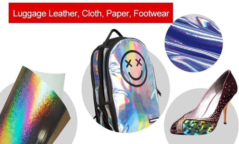 micro-nano texture application for-footwear, luggage leather, cloth and paper