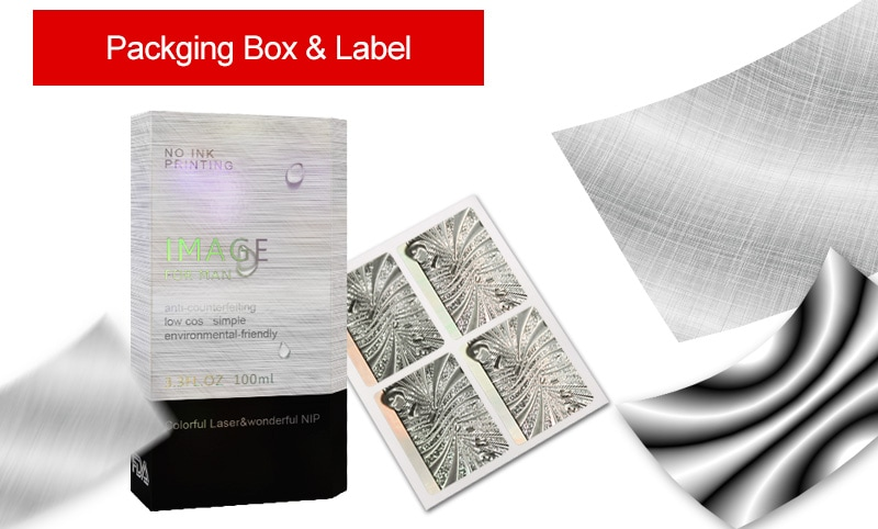 micro-nano texture application for packaging and label