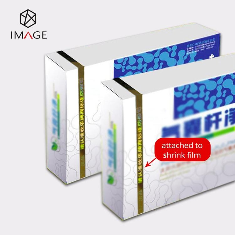 Gold line tear tape for pharmaceutical packaging