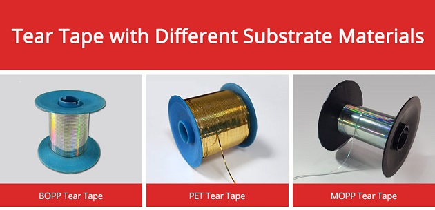 Tear tape with different Substrate materials