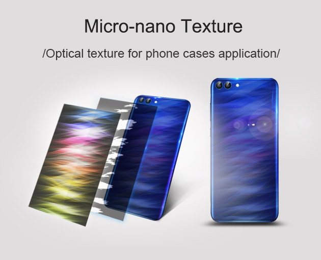 micro-nano optical texture for mobile phone cases