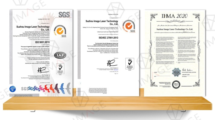 qualification certificate(IHMA, ISO9001, ISO27001)