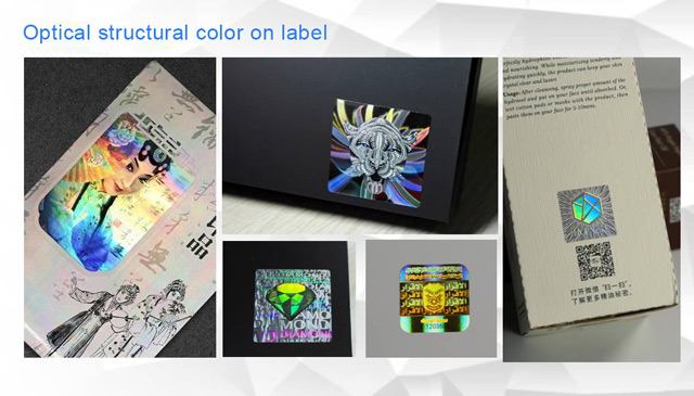 the application of optical structure color on label
