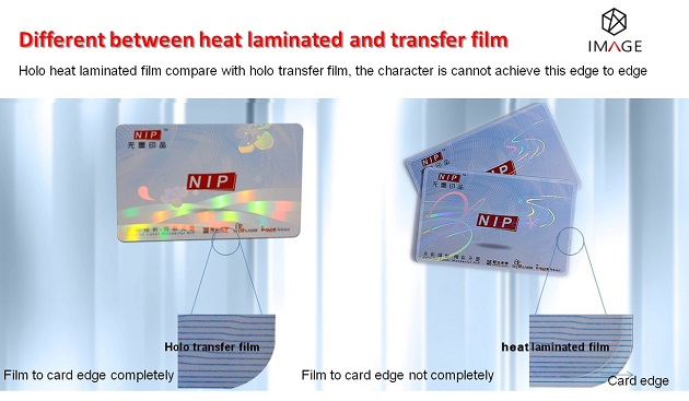 Difference between heat laminate patch and transfer overlay