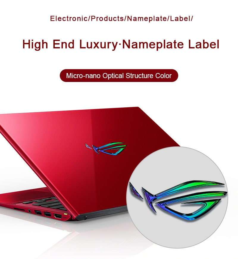 Electronic product (computer) nameplate label