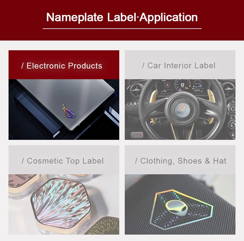 custom nameplate label industry application