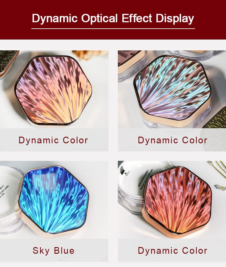 dynamic optical effect of seashell metal texture nameplate label