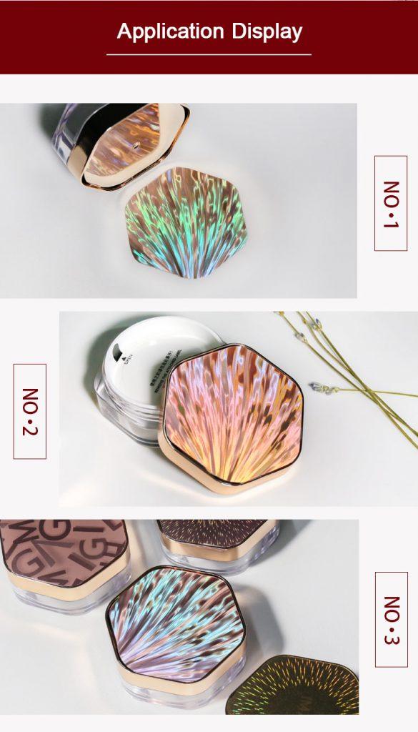 seashell pattern cosmetic nameplate sticker application display