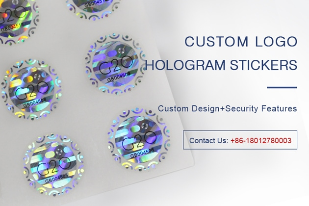 Hologram anti-counterfeiting stickers with customized brand logo