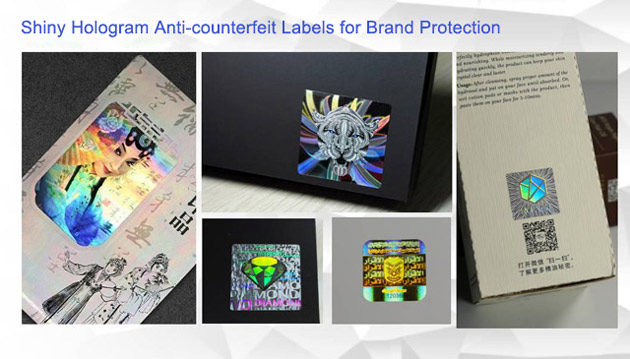 Shiny Hologram Anti-counterfeit Labels for Brand Protection