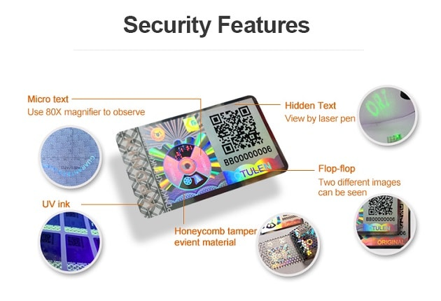 The combination of multiple anti-counterfeiting elements to enhance security