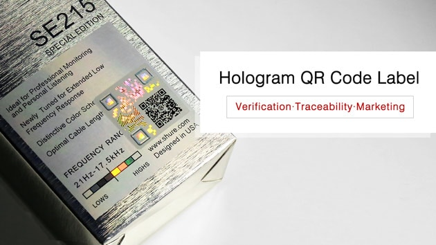 hologram QR code labels for verification and traceability