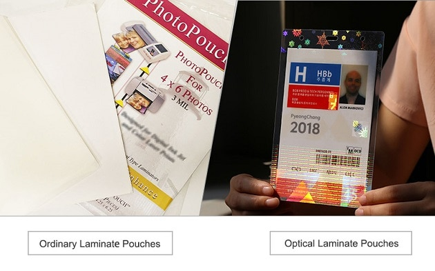 the difference of ordinary and hologram laminating pouches