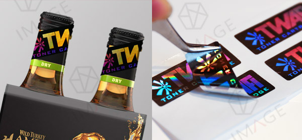hologram stickers with customized brand logo