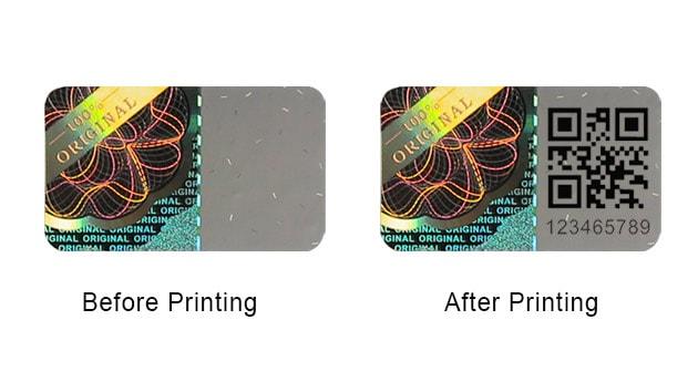 Print a QR Code on Hologram Sticker