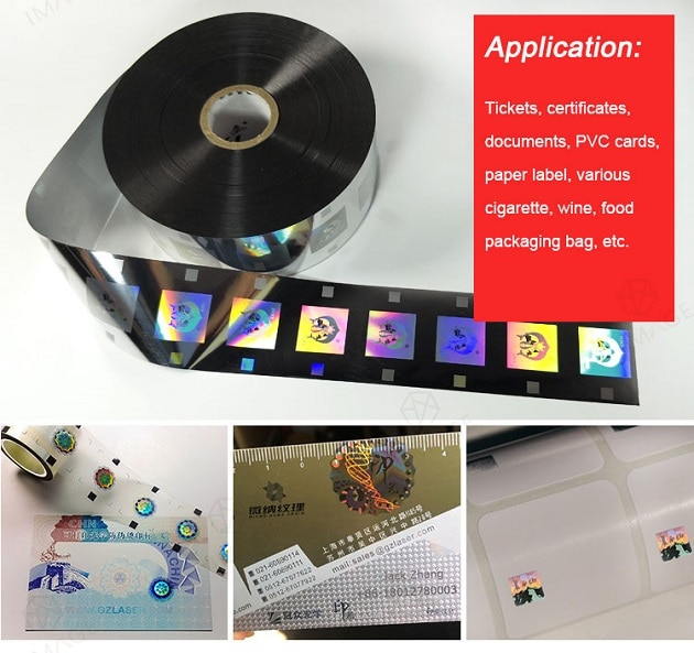 the application of roll hot stamping foil label
