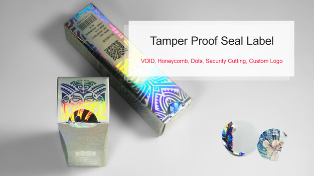 holographic tamper proof label for package seal