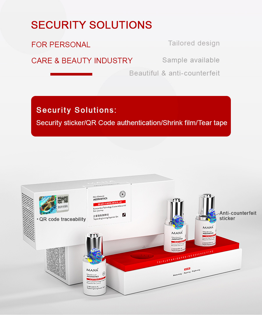 Security Solutions for Cosmetic and Personal Care Products